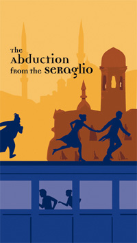 """Abduction from the Seraglio"" poster that inspired my images."