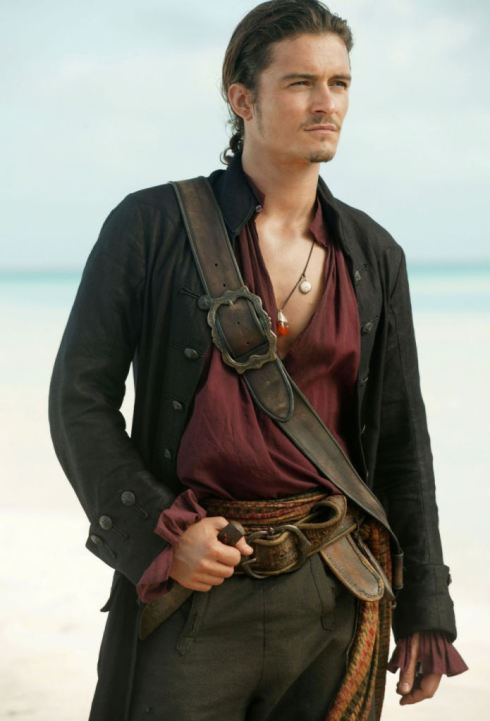 Orlando Bloom in the Pirates of the Caribbean.